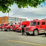 Camions du Service intermunicipal de sécurité incendie. Celui-ci dessert les municipalités de Saint-Pascal, Saint-Bruno, Saint-Germain, Kamouraska, Sainte-Hélène et Saint-Philippe-de-Néri.