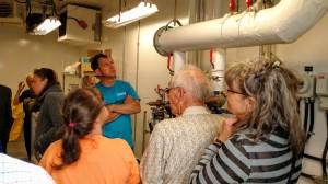Explications du fonctionnement de l'usine d'eau potable.